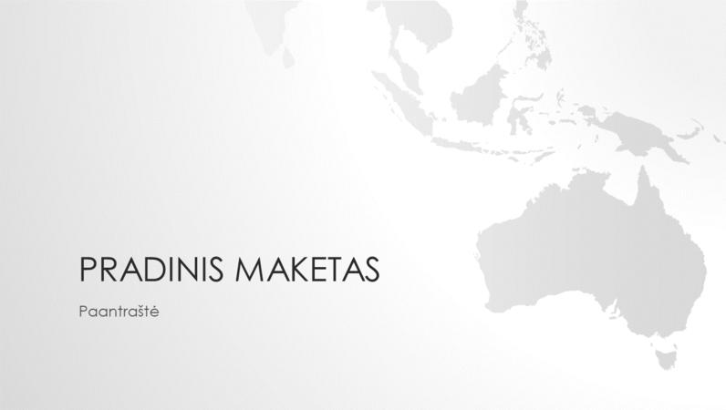 Pasaulio žemėlapių serija, Australijos žemyno pateiktis (plačiaekranė)
