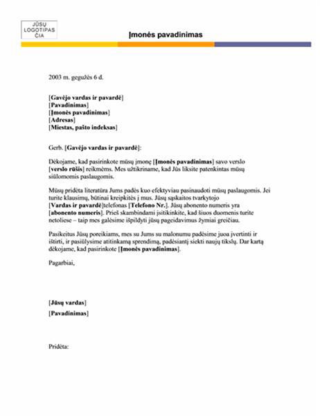 Firminis blankas laiškui (paprasta tema)