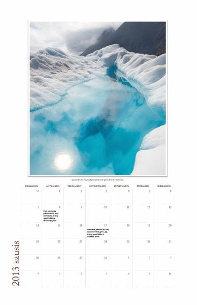 2013 m. kasmėnesinis fotokalendorius (P–S)