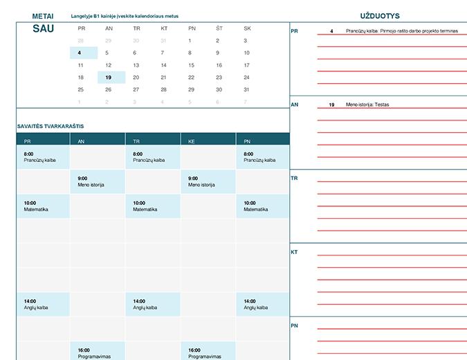 Mokinio kalendorius (Pir)