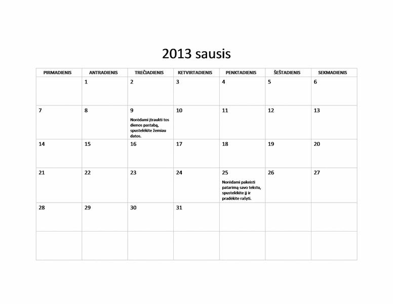 2013 m. paprastasis kalendorius (P–S)