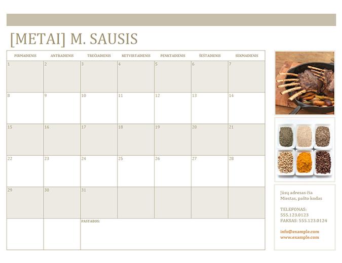 Nuotraukų kalendorius (pirmadienis)