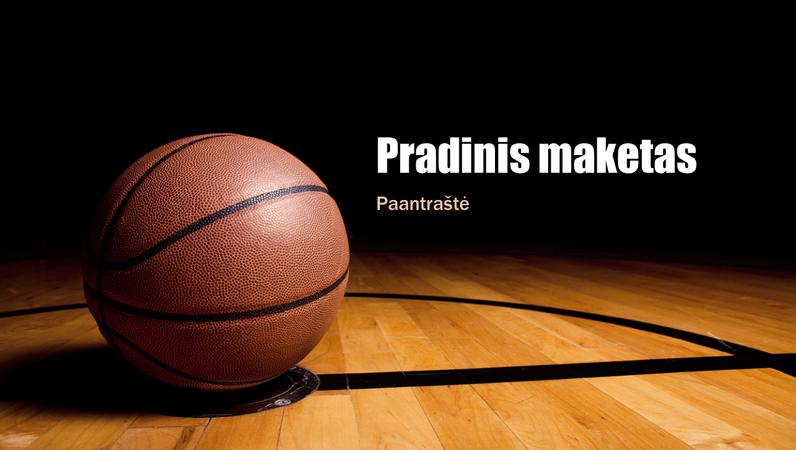 Krepšinio strategijos pateiktis (plačiaekranė)