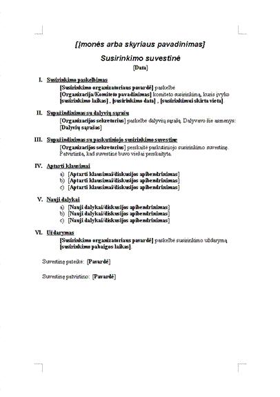 Oficialaus susitikimo protokolas