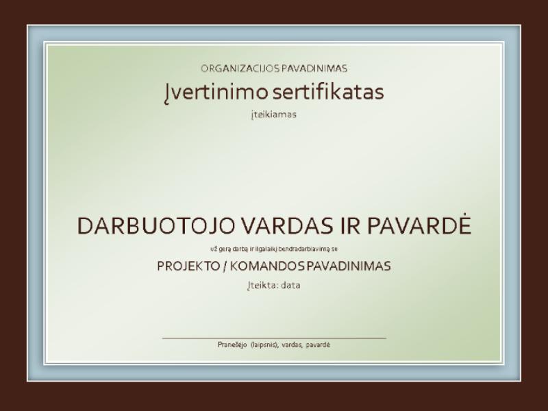 Pripažinimo sertifikatas