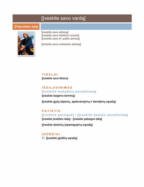 Ataskaita (vidutinis dizainas)