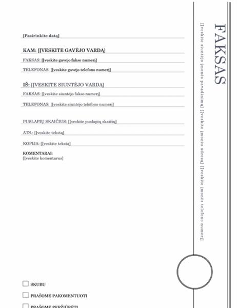 Faksogramos viršelis (erkerio dizainas)