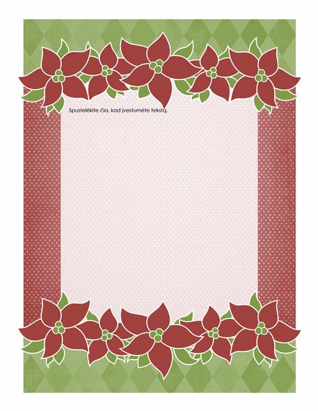 Atostogų blankas (Poinsettia dizainas)
