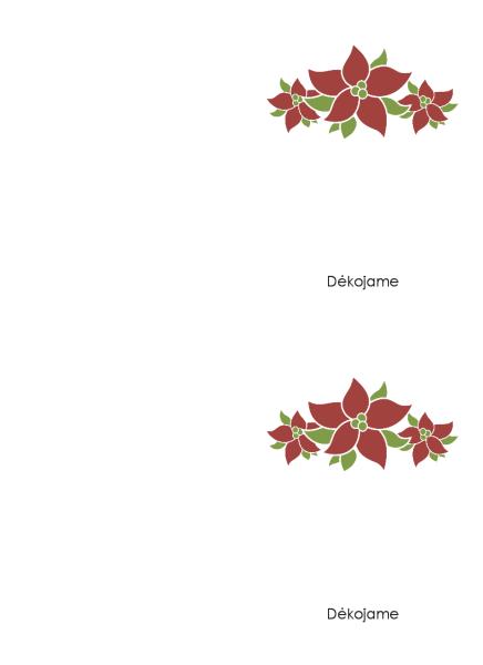 Padėkos atvirukas (dizainas – puansetija)