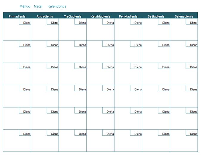 Tai mėnesio kalendorius