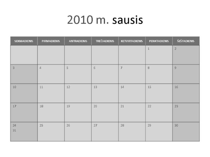 2010 m. kalendorius
