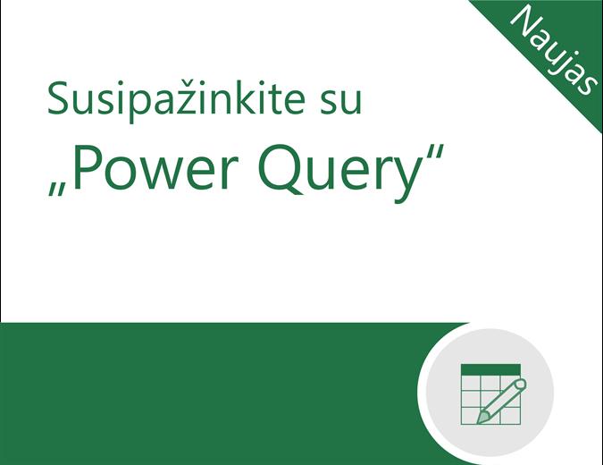 """Power Query"" mokymo programa"