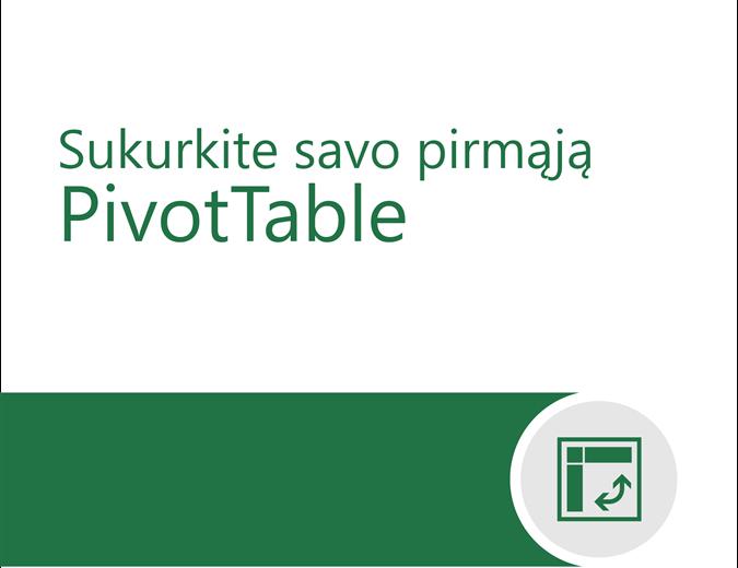 """""""PivotTable"""" mokymo priemonė"""