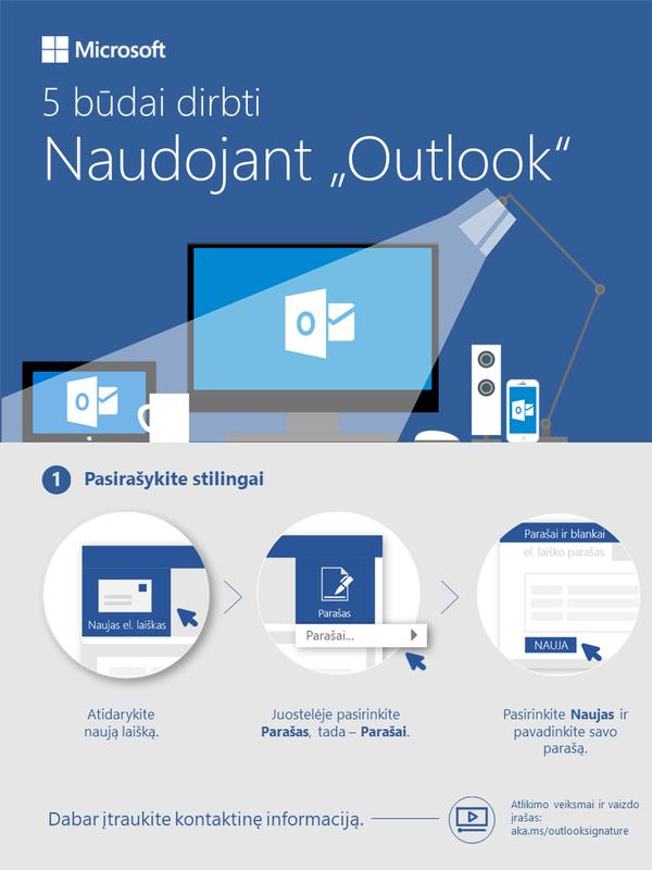 """5 būdų, kaip padaryti, kad """"Outlook"""" dirbtų jums"""