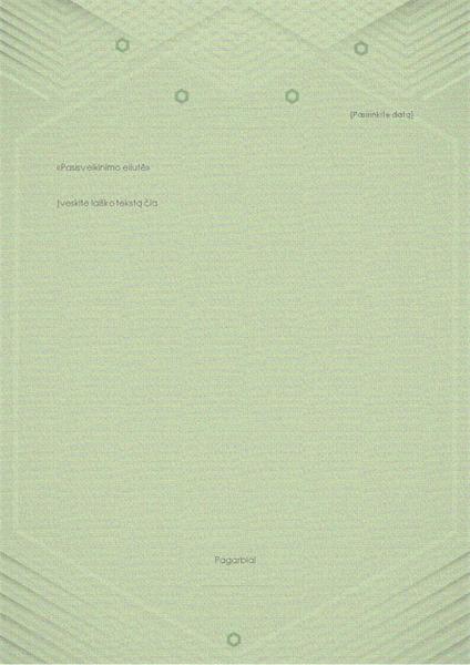 Asmeninių laiškų šablonas (elegantiškas pilką žalias dizainas)