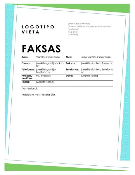 Geometrinis faksogramos viršelis