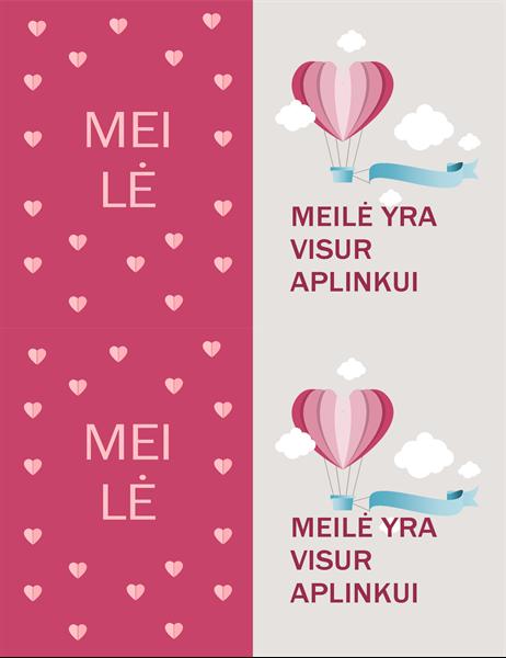 Valentino dienos atvirukas Mus supa meilė