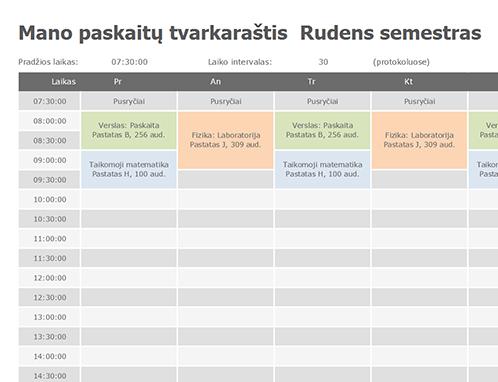 Pamokų tvarkaraštis