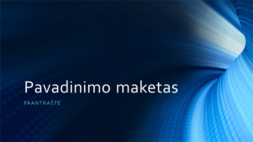 Verslo pateiktis su mėlynu skaitmeniniu tuneliu (plačiaekranis formatas)