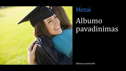 Mokyklos baigimo nuotraukų albumas, juodas (plačiaekranis formatas)