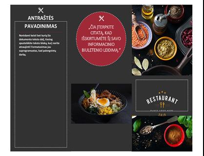 Restorano brošiūra