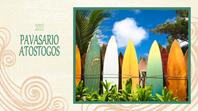 Pavasario atostogų nuotraukų albumas (paplūdimio dizainas, plačiaekranis formatas)