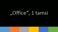 """Office"", 1 tamsi"