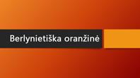 Berlynietiška oranžinė
