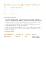 Susitikimo planas (oranžinės spalvos dizainas)
