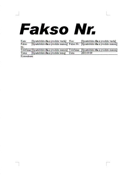 Standartinė faksograma