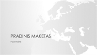 Pasaulio žemėlapių serija, Europos kontinento pateiktis (plačiaekranė)