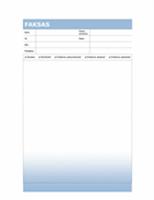 Faksogramos viršelio puslapis (mėlynos pereinamosios spalvos)