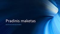 Komercinė pateiktis su skaitmeninio mėlyno tunelio vaizdu (plačiaekranė)