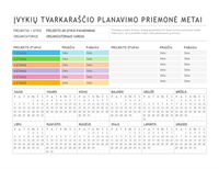 Renginio planavimo šablonas