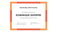 Pasiekimų sertifikatas (mėlynas)
