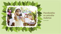 Šeimos nuotraukų albumas (žalių lapų gamtinis dizainas)