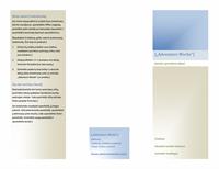 Lankstinukas (horizontalaus 8 1/2 x 11 formato, dvigubas)