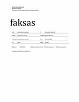 Faksogramos viršelis (profesionalus)