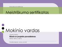 Studento įvertinimo sertifikatas
