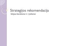 Rekomenduojamos strategijos pateiktis