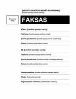 Faksogramos viršelis (vidutinis dizainas)