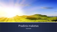 Mėlyna juostinio stiliaus pateiktis su saulėtekio kalnuose nuotrauka (plačiaekranis)