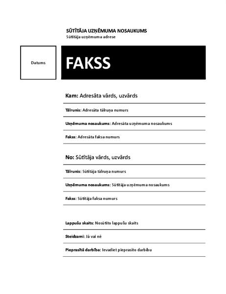 Fakss (parasts dizains)
