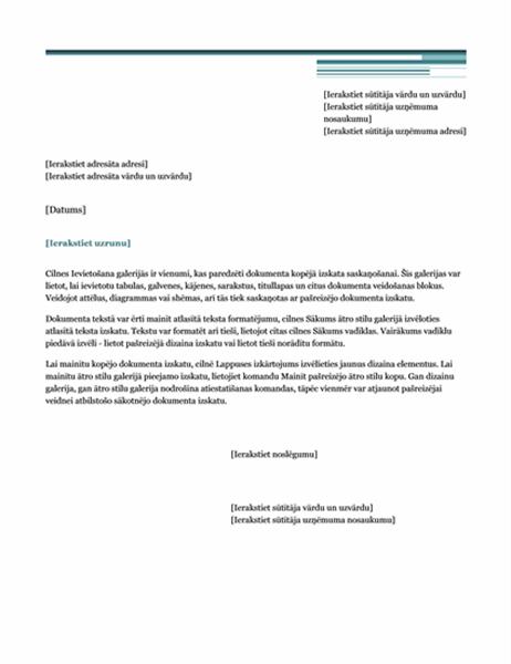 Vēstule (pilsētniecisks dizains)