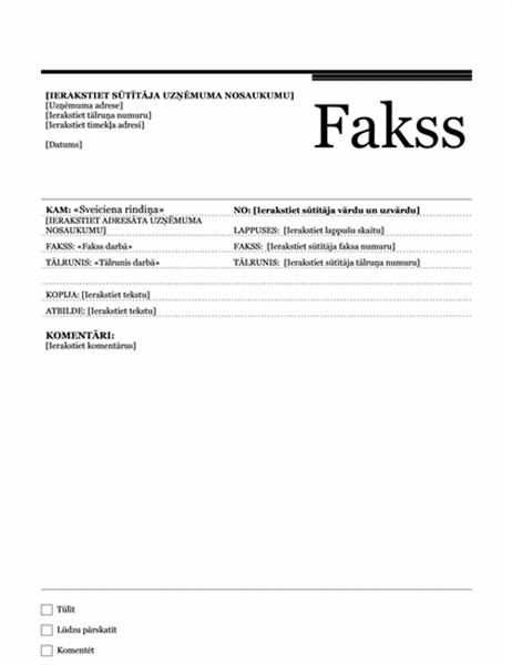 Pasta sapludināšanas fakss (pilsētniecisks dizains)