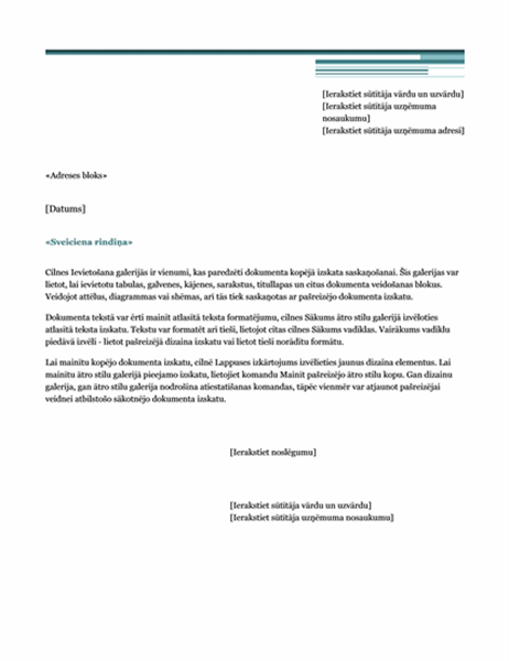 Pasta sapludināšanas vēstule (pilsētniecisks dizains)