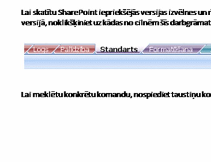 SharePoint Server: lentes atsauču rokasgrāmata