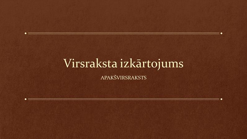 Prezentācija ar klasisku grāmatu izglītībai (platekrāns)