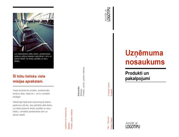 Trīskārša locījuma brošūra (Sarkans un melns)
