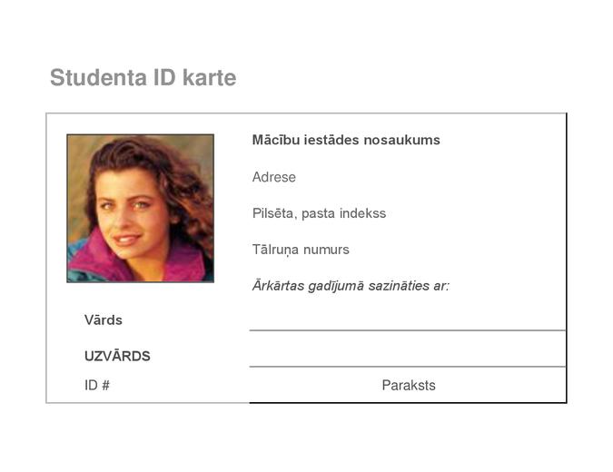 Skolēna identifikācijas karte